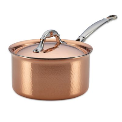 Ruffoni Symphonia Cupra 3.5-Quart Covered Copper Saucepan