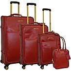 Adrienne Vittadini 4-Piece Saffiano Luggage Set