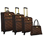 Adrienne Vittadini 4-Piece Jacquard Luggage Set
