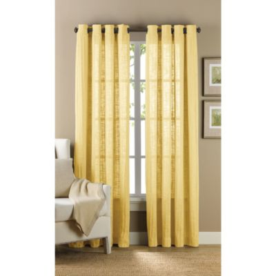 B. Smith Origami Grommet 63-Inch Window Curtain Panel in Yellow