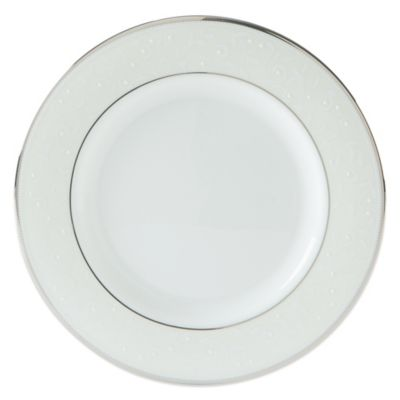 Lenox® Opal Innocence™ Salad Plate in White/Platinum