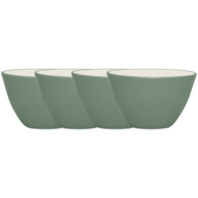 Noritake® Colorwave Mini Bowls in Green (Set of 4)