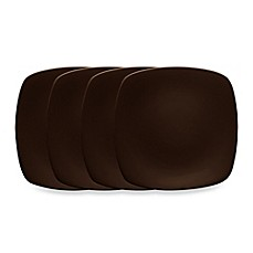 Noritake® Colorwave Quad Plates in Chocolate(Set of 4)
