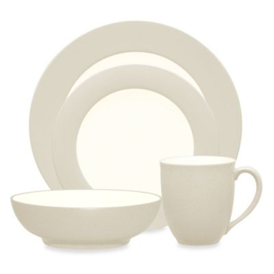 Noritake® Colorwave Cream Rim 4-Piece Place Setting