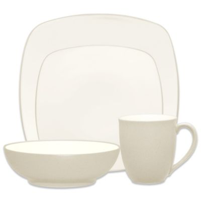 Noritake® Colorwave Square 4-Piece Place Setting in Cream