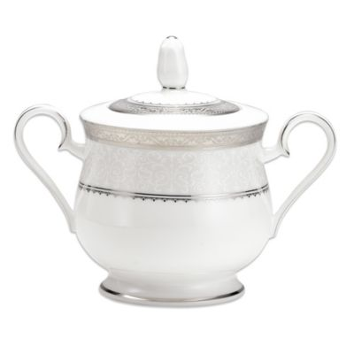 Noritake® Odessa Platinum 11 1/2-Ounce Covered Sugar Bowl