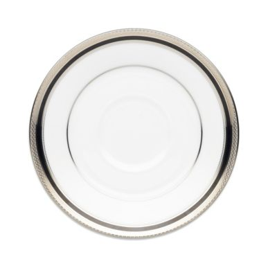 Dishwasher Safe Platinum Saucer