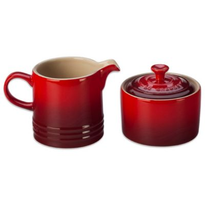 Le Creuset® Cream and Sugar Set in Cherry