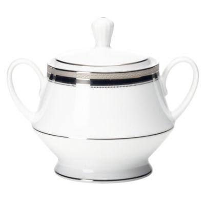 Noritake® Austin Platinum Covered Sugar Bowl