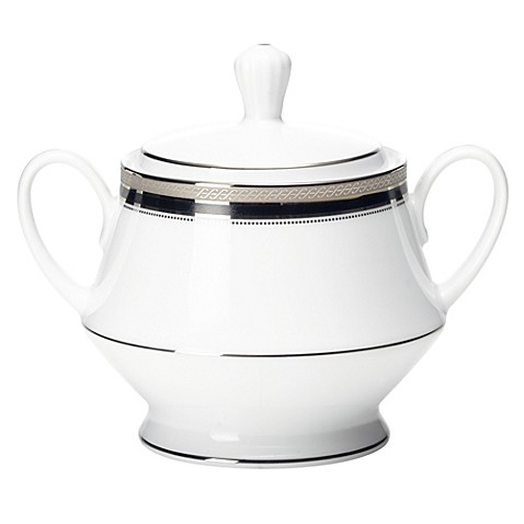 Noritake® Austin Platinum Covered Sugar Bowl
