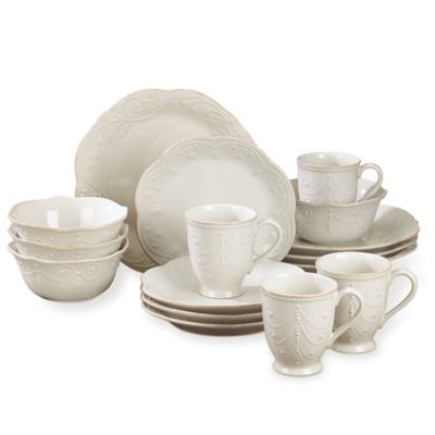 Lenox® French Perle™ 16-Piece Dinnerware Set in White