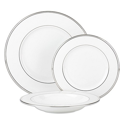 Lenox® Federal Platinum 3-Piece Place Setting with Rim Soup Bowl