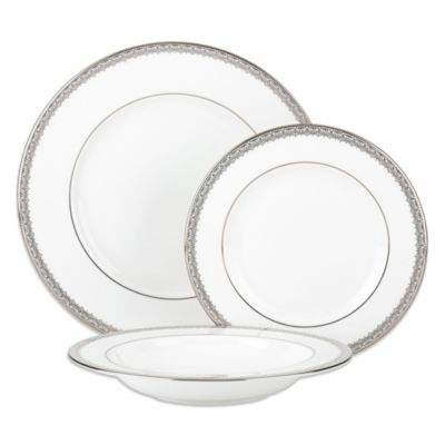 Lenox® Lace Couture 3-Piece Place Setting with Rim Soup Bowl