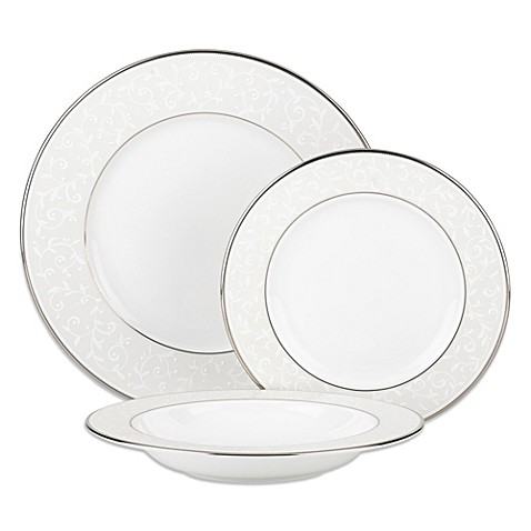 Lenox® Opal Innocence 3-Piece Place Setting with Rim Soup Bowl