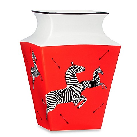Scalamandre by Lenox® Zebras 9.6-Inch Medium Vase in Red