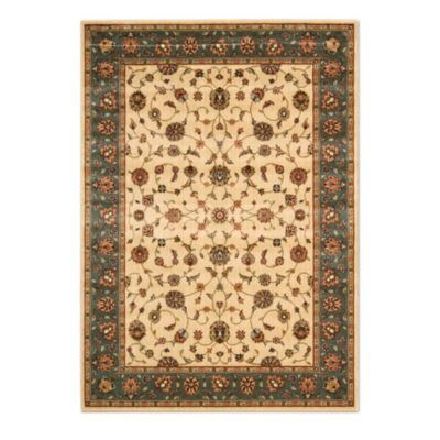 Nourison Persian Arts Kashan 2-Foot 3-Inch x 12-Foot Runner in Ivory