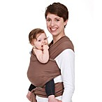 Moby® Wrap Midweight Modern Baby Carrier in Cafe with Chocolate Stitch