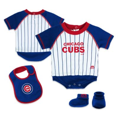 MLB® Chicago Cubs Infant Creeper, Bib and Bootie Set by adidas®