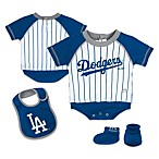 MLB® Los Angeles Dodgers Creeper, Bib and Bootie Set by adidas®