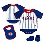 MLB® Texas Rangers Creeper, Bib and Bootie Set by adidas®