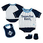 MLB® Tampa Bay Rays Creeper, Bib and Bootie Set by adidas®