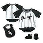 MLB® Size Chicago White Sox Creeper, Bib and Bootie Set by adidas®
