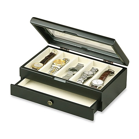 Wooden Watch Box in Black