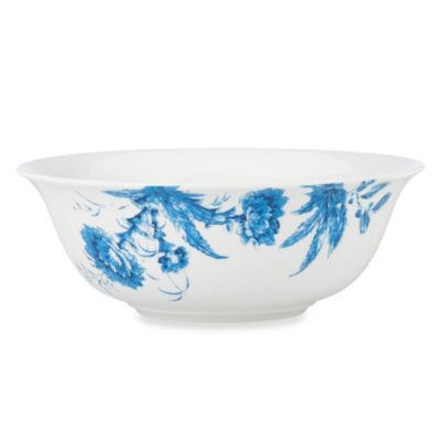 Scalamandre by Lenox® Toile Tale Sky Blue 64-Ounce Serving Bowl