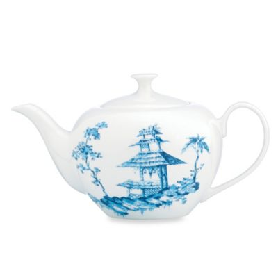 Scalamandre by Lenox® Toile Tale Sky Blue 40-Ounce Teapot