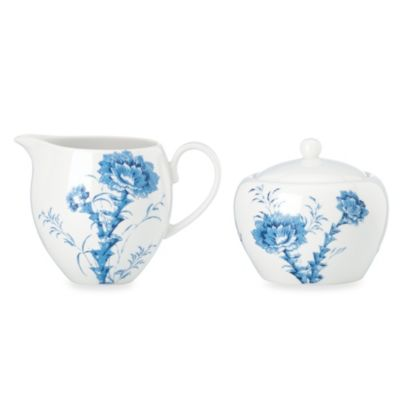 Scalamandre by Lenox® Toile Tale Sky Blue 4-Inch Sugar and 10-Ounce Creamer Set