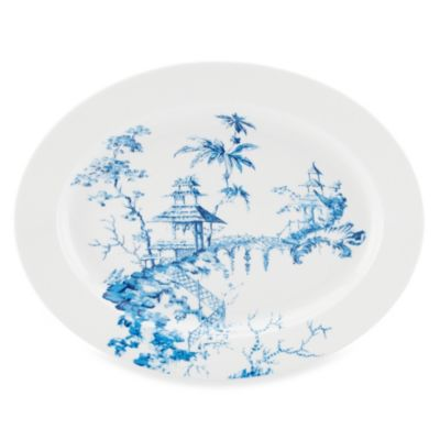 Scalamandre by Lenox® Toile Tale Sky Blue 16-Inch Oval Platter