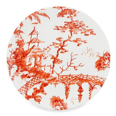 Scalamandre by Lenox® Toile Tale Sienna 9-Inch Accent Plate