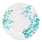 Scalamandre by Lenox® Toile Tale Teal 11.5-Inch Dinner Plate