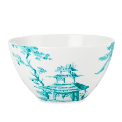 Scalamandre by Lenox® Toile Tale Teal 24-Ounce All Purpose Bowl