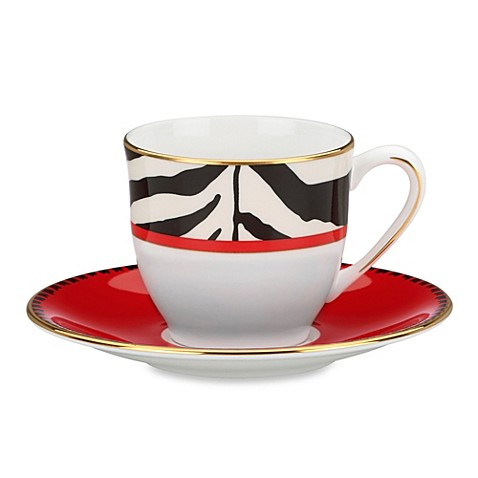 Scalamandre by Lenox® Zebras 3-Ounce Demitasse Cup & 5-Inch Saucer