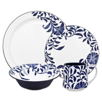 Denby Malmo Bloom Accent 4-Piece Place Setting