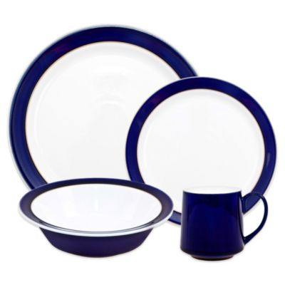 Denby Malmo 4-Piece Place Setting in Blue/White