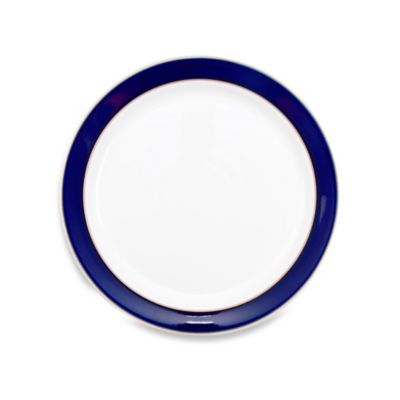Denby Malmo Dessert/Salad Plate in White/Blue