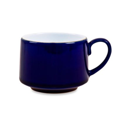 Denby Malmo Teacup in White/Blue