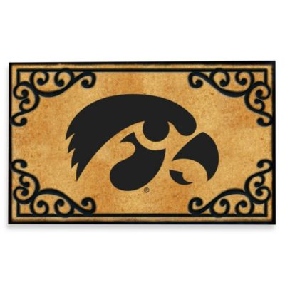 University of Iowa Coir Fiber Door Mat
