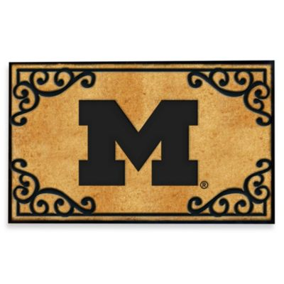 University of Michigan Coir Fiber Door Mat