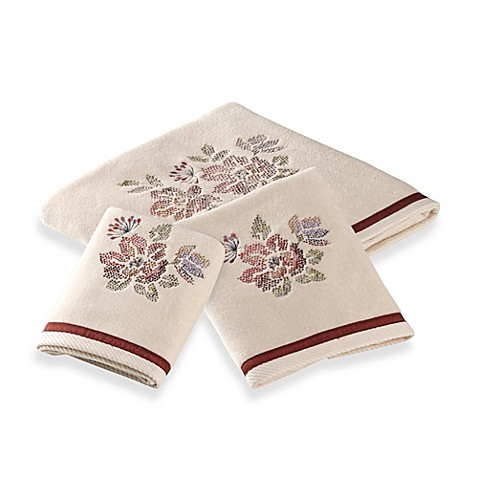 Croscill Mosaic Floral Bath Towel Collection Bed Bath Beyond
