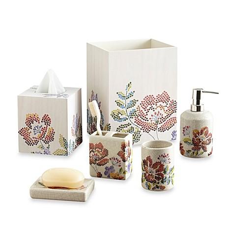 Croscill mosaic floral bathroom accessories bed bath for Bathroom accessories showroom