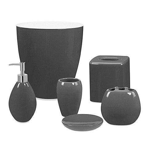 wamsutta elements bath ensemble in pewter bed bath beyond