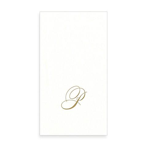 Buy caspari monogram letter p paper linen guest towels for 24 cardboard letters
