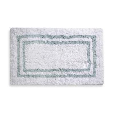 Wamsutta® 21-Inch x 34-Inch Hotel Spa Rug in White/Aqua