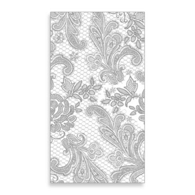 Lace Royal 15-Count Paper Guest Towels in Silver