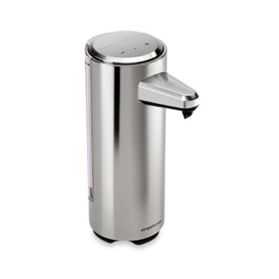 Buy simplehuman rechargeable sensor soap dispenser in brushed nickel from bed bath beyond - Brushed nickel soap dispenser pump ...