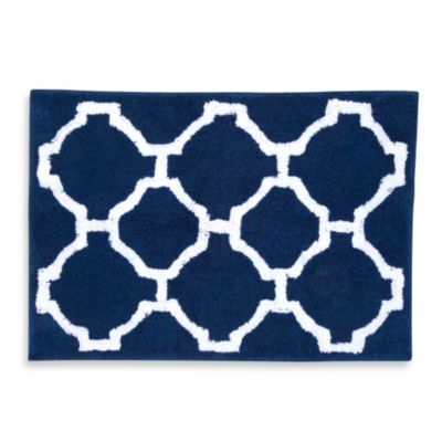 Jill Rosenwald Hampton Links Bath Rug in Navy/White