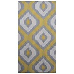 Paper Guest Towels in Ikat Yellow Silver (Pack of 16)